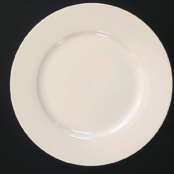 White China Plain Dinner Plate 10 75 Inch Rentals St