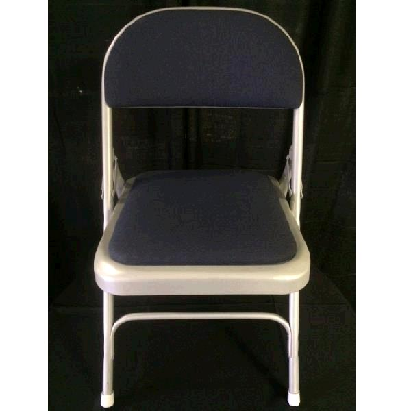 Where to find PADDED FOLDING CHAIR- GRAY NAVY in St. Petersburg