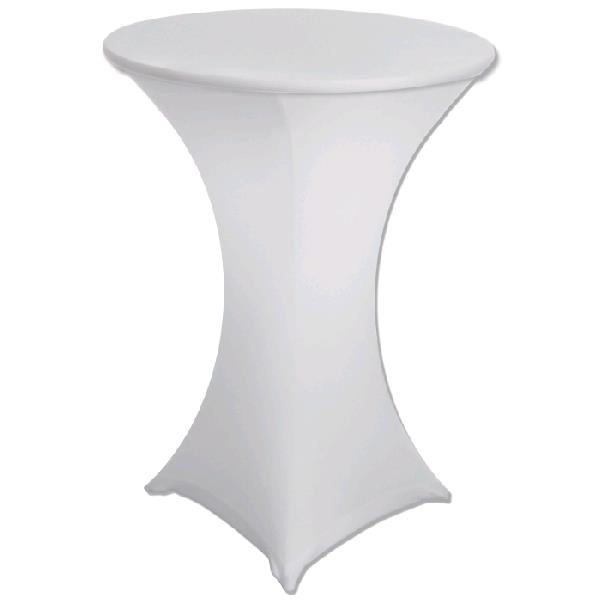 Where to find SPANDEX TABLE CLOTH- WHITE COCKTAIL in St. Petersburg