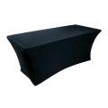 Rental store for SPANDEX TABLE CLOTH- BLACK 8FT in St. Petersburg FL