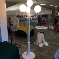 Rental store for LAMP POST 4 GLOBE- WHITE METAL in St. Petersburg FL