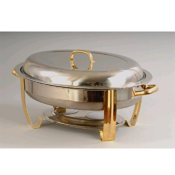 Where to find CHAFER- SS 6QT OVAL BRASS in St. Petersburg