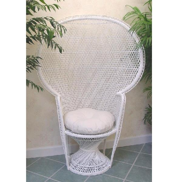 Where to find WHITE WICKER CHAIR WITH PAD in St. Petersburg